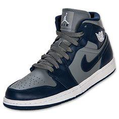 Men's Air Jordan Retro 1 navy blue/gray