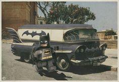 Para trayectos cortos, sin carreras y con buena carretera... la Bat-Van.