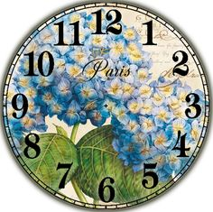 Циферблат. Decoupage Vintage, Decoupage Paper, Clock Face Printable, Paper Clock, Clock Craft, Blue Nose Friends, Wood Clocks, Flower Crafts, Miniatures