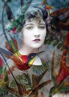 The Day of the Hummingbirds - Click image to find more art Pinterest pins