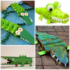 Creative Alligator & Crocodile Crafts for Kids - Crafty Morning
