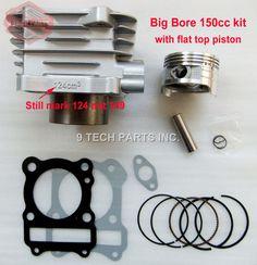 BIG BORE Barrel Zylinder Kolben Kit 150cc 62mm für GS125 GN125 EN125 GZ125 DR125 TU125 157FMI K157FMI motoren