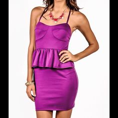 "Selling this ""Gorgeous Royal purple peplum pencil dress"" in my Poshmark closet! My username is: chanels_closet. #shopmycloset #poshmark #fashion #shopping #style #forsale #Dresses & Skirts"