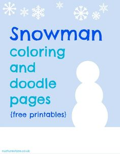 colouring pages printable snowman