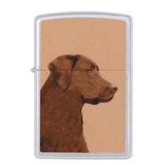 #Labrador Retriever (Chocolate) Zippo Lighter - #labrador #retriever #puppy #labradors #dog #dogs #pet #pets