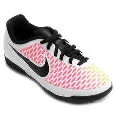 0eadc3e7ea Chuteira Nike Magista Ola TF Society Infantil - Branco+Pink Chuteira Futsal