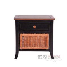 田园乡村沙发边桌 美式乡村角柜实木边几定做 普林斯特边几-淘宝网