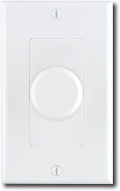 Moderno In-Wall Volume Control 10220 rotary by Moderno. $47.99. Moderno 10220 In-Wall Speaker Volume Rotary Control - White   Easily control your sound systems volume from another room with this rotary volume control.   Product Features  Passive volume control handles up to 150W of power  Allows you to adjust the volume of speakers from a different room  Connects the in-wall wire to a plate for a clean installation  Impedance-matching stereo design  Sleek white exterior...