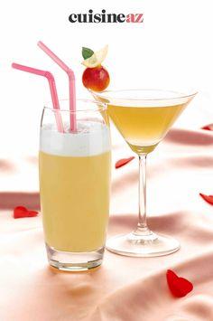Cette recette de cocktail pour la Saint-Valentin est alcoolisée. #recette#cuisine#cocktails #aperitif#saintvalentin Cocktail Vodka, Cocktails, Vodka Tonic, Pina Colada, Aphrodite, Cocktail Saint Valentin, Healthy Drinks, Martini, Drinking