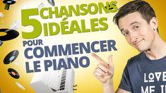 5 CHANSONS IDÉALES POUR COMMENCER LE PIANO Jouer Du Piano, Jean Jacques Goldman, Piano Music, Tutorials, Crochet, Piano Classes, Humorous Animals, Singers, Songs