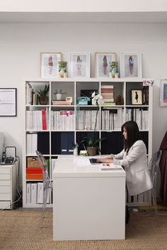 shelving in office space - love it!