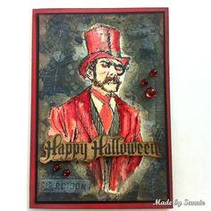 Made by Sannie: Walk on the Dark Side Halloween card