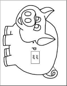 Word Wheels: Pig Shape (letter P) - This cute pig is one of many shape word wheels on our member site highlighting beginning sounds.
