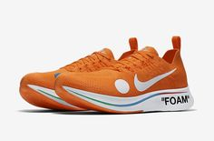 9a3b5f081 2018 Off-White x Nike Zoom Fly Mercurial Flyknit Total Orange White-Volt  AO2115-800