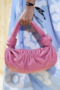 Miu Miu Spring 2020 Fashion Show Details. All the fashion runway close-up details, shoes, and handbags from the Miu Miu Spring 2020 Fashion Show Details. Star Fashion, Fashion Bags, Runway Fashion, Fashion Show, Paris Fashion, Miu Miu, Polka Dot Bags, Textiles, Crochet Purses
