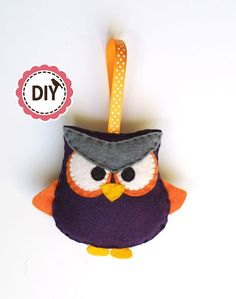 DIY angry owl PATTERN by NikisBirdhouse on Etsy, $3.40