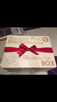 Christmas Eve box large Personalised by KayliesKraftsGifts on Etsy diy christmas gifts, teen girl christmas gifts, original christmas gifts Christmas Eve Box For Kids, Night Before Christmas Box, Xmas Eve Boxes, Childrens Christmas, Christmas Gift Box, Babies First Christmas, Christmas Wood, Family Christmas, Christmas Holidays