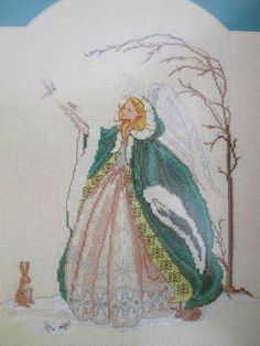 See Sally Sew-Patterns For Less - Snow Angel Counted Cross Stitch MarBek BE - 30 Serendipity Designs , $9.00 (http://stores.seesallysew.com/snow-angel-counted-cross-stitch-marbek-be-30-serendipity-designs/)