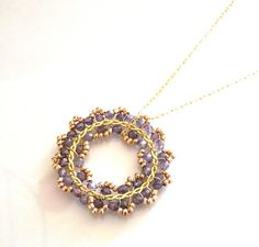 The Diamante  beautiful pendant with lavender Czech by anthology27, $41.95