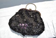 černá krajková kabelka black lace purse