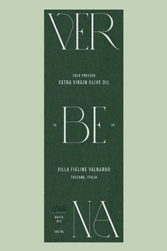 Verbena Restaurant — Reformette | Brand Design Studio Olive oil brand design label for packaging Design Brochure, Design Logo, Brand Identity Design, Stationery Design, Corporate Design, Typography Design, Layout Design, Print Design, Identity Branding
