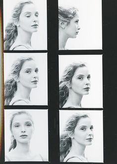 """""""Contact sheets of Julie Delpy in Homo Faber (Volker Schlöndorff """" Pure Beauty, Beauty Women, Video Photography, Portrait Photography, Before Trilogy, Julie Delpy, Nastassja Kinski, Portraits, Before Sunrise"""