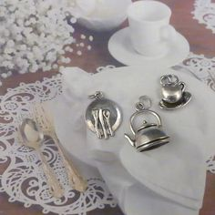 FREE SHIPPING  Charms  Tea Party  Tea Kettle  by ILoveItandMore