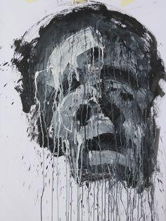 Mask Acrylic on paper 80x60cm 2016 © - Karino Amade