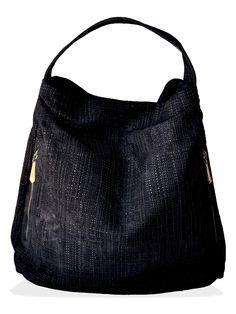 // Serrano Woven Leather Hobo