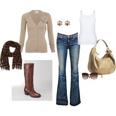 Made my first Polyvore style board - Comfy Fall