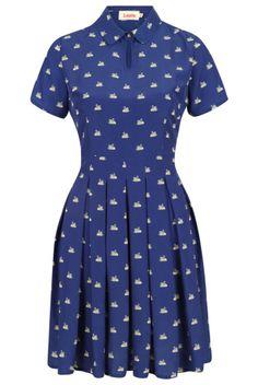 Louche Ilsa Swan Shirt Dress