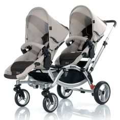 Tandem twin stroller with out the economy seat