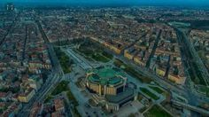 Sofia from above, Bulgaria