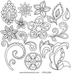 Flower/paisley pattern - could use to make felt or paper flowers