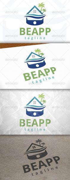 Beach APP Logo — Vector EPS #water #royal • Available here → https://graphicriver.net/item/beach-app-logo/7915720?ref=pxcr