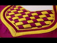 Paithani Silk Saree Blouse Design Cutting and Stitching Brocade Blouse Designs, Saree Jacket Designs, Patch Work Blouse Designs, Simple Blouse Designs, Saree Blouse Neck Designs, Stylish Blouse Design, Sari Blouse, Churidhar Neck Designs, Neck Designs For Suits