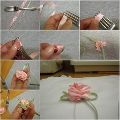 Einfache Rose selber binden do it yourself ribbon rose