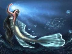 Mermaid on bottom of ocean - Barbaras Gothic and Fantasy Pictures Real Mermaids, Pretty Mermaids, Fantasy Mermaids, Mermaids And Mermen, Fantasy Creatures, Mythical Creatures, Sea Creatures, Mythological Creatures, Mermaid Cove