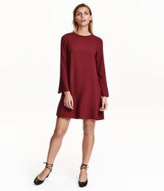 Kort klänning | Vinröd | Dam | H&M FI