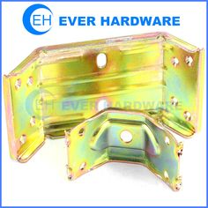 Furniture connecting wooden bed rail hook plate bracket support galvanize