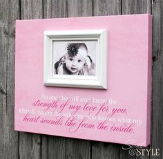 Custom Photo Frame Canvas With Baby Quote  Baby by ScriptandStyle, $74.99