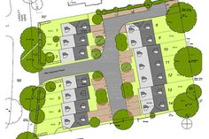 Flowitt Architects were approached to design and obtain Planning consent for 15 new 2, 3 and 4 bedroom houses in Sutton.