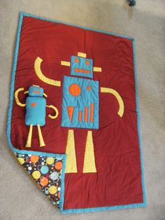 1000 images about robot quilt on pinterest robots for Robot quilt fabric