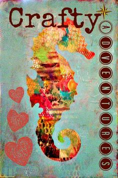 "Scrapbook paper, acrylic paint, white gesso, mod podge WWW.CRAFTYADVENTURES.COM for more art work. Music: soundcloud.com ""License To Chill Vol. 2"" by Boogie8..."