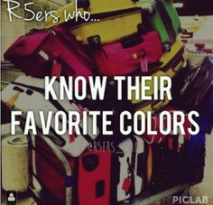 I know them Riker's blue,Rydel's pink,Ross's yellow,Rocky's lime green,Ratliff's dark green,and Ryland's red.