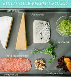My favoritve food- cheese board! Victoria of vmac+cheese shares how to make a beautiful cheese board Brunch, Antipasto, Appetizers For Party, Appetizer Recipes, Dinner Parties, Yummy Appetizers, Table D Hote, Wine And Cheese Party, Meat And Cheese