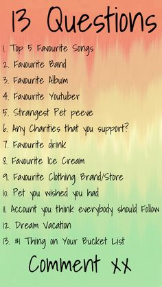 Comment anybody? Or if you wanna try to guess one I'll follow you and possibly give you a shoutout if you get it right! xx :)