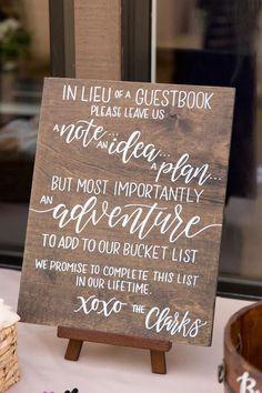 Wedding Book, Wedding Signs, Fall Wedding, Diy Wedding, Wedding Ideas, Wedding Favors, Wedding Themes, Wedding Souvenir, Jenga Wedding Guest Book