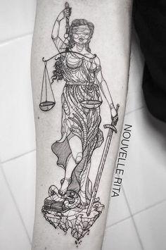 Resultado de imagem para themis tatuagem