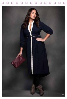 ELOQUII'S PLUS SIZE FASHION FALL LOOK BOOK | STYLISH CURVES - See I knew there were some decent dresses out there that are below the knee!
